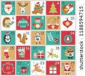 christmas advent calendar with... | Shutterstock .eps vector #1188594715