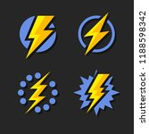thunder and bolt lighting flash ... | Shutterstock .eps vector #1188598342