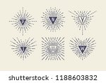 set of vintage sunbursts in... | Shutterstock .eps vector #1188603832