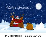 merry christmas santa claus and ... | Shutterstock .eps vector #118861408