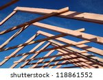 Wood Roof Trusses Viewed From...