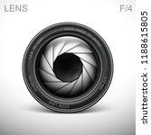 set camera lens object glass...   Shutterstock .eps vector #1188615805