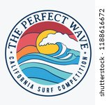 california surf theme text with ... | Shutterstock .eps vector #1188616672