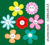 collection of cute flowers | Shutterstock .eps vector #1188618115