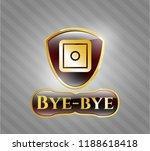 shiny emblem with bank safe... | Shutterstock .eps vector #1188618418