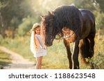 little  girl with black... | Shutterstock . vector #1188623548