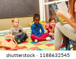 group of children listen... | Shutterstock . vector #1188632545