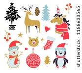 christmas  new year design... | Shutterstock .eps vector #1188633565