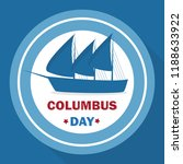 happy columbus day banner... | Shutterstock .eps vector #1188633922