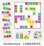 logic puzzle game for children...   Shutterstock .eps vector #1188648355