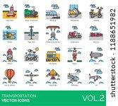 transportation vector icons....   Shutterstock .eps vector #1188651982