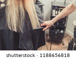 hair straightening at beauty... | Shutterstock . vector #1188656818
