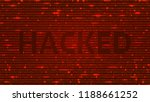 ascii art background with word... | Shutterstock .eps vector #1188661252