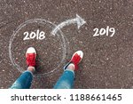 start new year 2019 and leaving ... | Shutterstock . vector #1188661465
