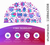 cyber technology concept in... | Shutterstock .eps vector #1188662008