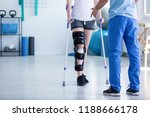 professional physiotherapist... | Shutterstock . vector #1188666178