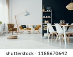 chairs at dining table in white ... | Shutterstock . vector #1188670642