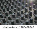 mixers mixing console audio...   Shutterstock . vector #1188670762