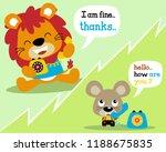 vector illustration of animals... | Shutterstock .eps vector #1188675835