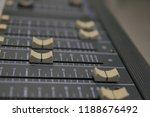 mixers mixing console audio...   Shutterstock . vector #1188676492