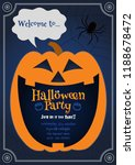jack o lantern pumpkin laughing ... | Shutterstock .eps vector #1188678472