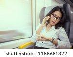 female entrepreneur talking on...   Shutterstock . vector #1188681322