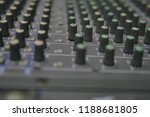 mixers mixing console audio...   Shutterstock . vector #1188681805