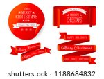 set of red christmas and new... | Shutterstock .eps vector #1188684832