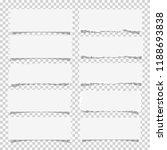 vector set of various white... | Shutterstock .eps vector #1188693838