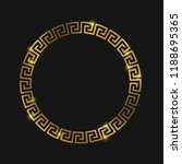 golden round greek frame for... | Shutterstock .eps vector #1188695365