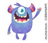 cute cartoon monster  with... | Shutterstock .eps vector #1188696895