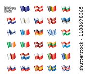 flags of the european union.... | Shutterstock .eps vector #1188698365