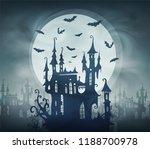 dracula dark castle silhouette... | Shutterstock .eps vector #1188700978