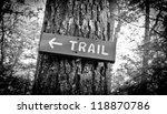 a trail sign made out of wood... | Shutterstock . vector #118870786