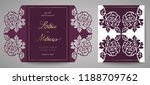 floral wedding invitation.... | Shutterstock .eps vector #1188709762