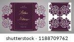 floral wedding invitation.... | Shutterstock .eps vector #1188709762