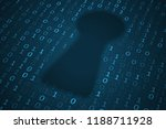 digital keyhole illustration.... | Shutterstock . vector #1188711928