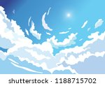 beautiful sky background from... | Shutterstock .eps vector #1188715702
