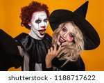 Photo of wizard woman and joker ...