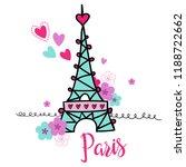 paris . typography graphic...   Shutterstock .eps vector #1188722662
