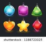 christmas decorations. festive... | Shutterstock .eps vector #1188723325