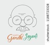 2nd october mahatma gandhi... | Shutterstock .eps vector #1188723328