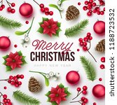 merry christmas background.... | Shutterstock .eps vector #1188723532