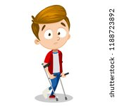 depressed boy with bandage on... | Shutterstock .eps vector #1188723892