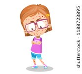little girl with pimples... | Shutterstock .eps vector #1188723895