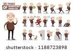 senior man character animated... | Shutterstock .eps vector #1188723898