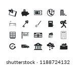 business vector icon set.... | Shutterstock .eps vector #1188724132