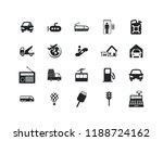 transportation vector icon set. ... | Shutterstock .eps vector #1188724162