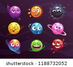 funny cartoon colorful emoji... | Shutterstock .eps vector #1188732052