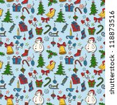 christmas seamless pattern   Shutterstock .eps vector #118873516